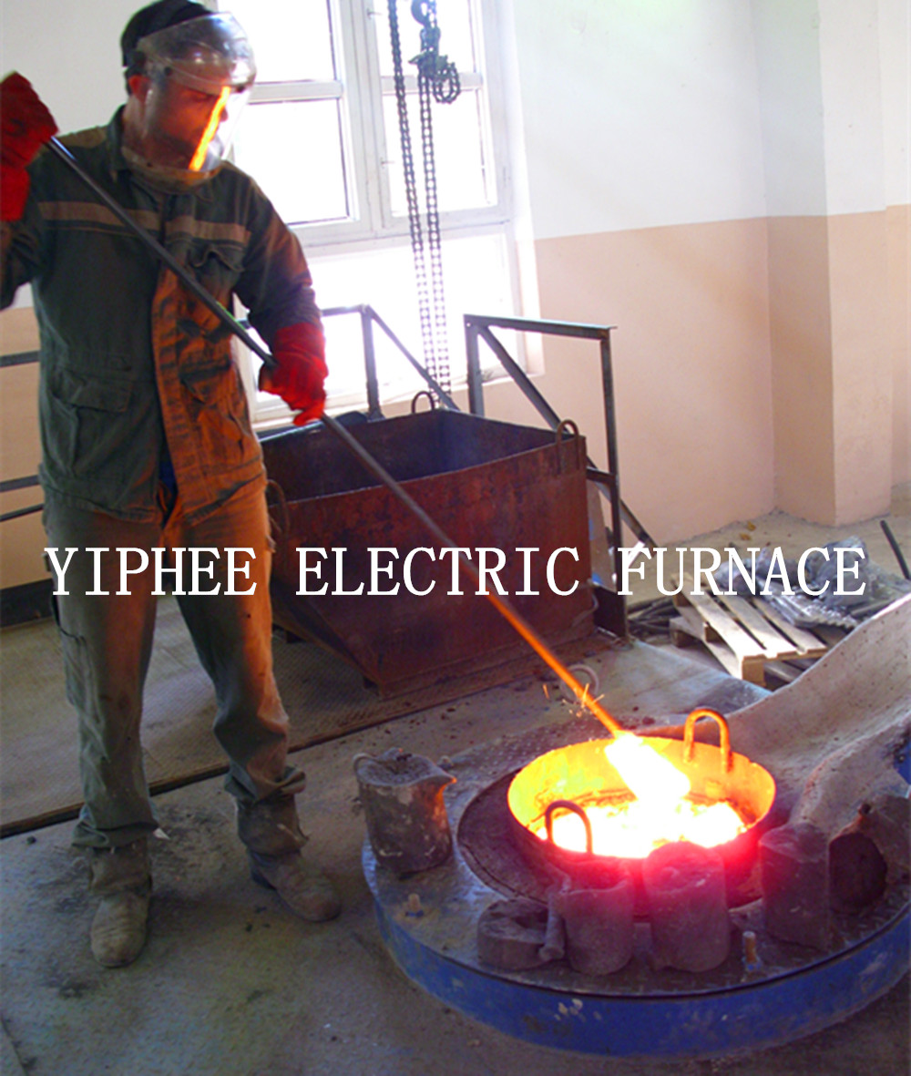 Induction melting furnace in Russia